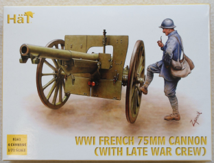 HaT 1/72 HAT8161 French 75mm Artillery with Late War Crew (WW1)